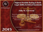 Martindale-Hubbell AV Preeminent Rating has distinguished the country's elite attorneys